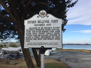 The Oxford-Bellevue Ferry dates to 1683.
