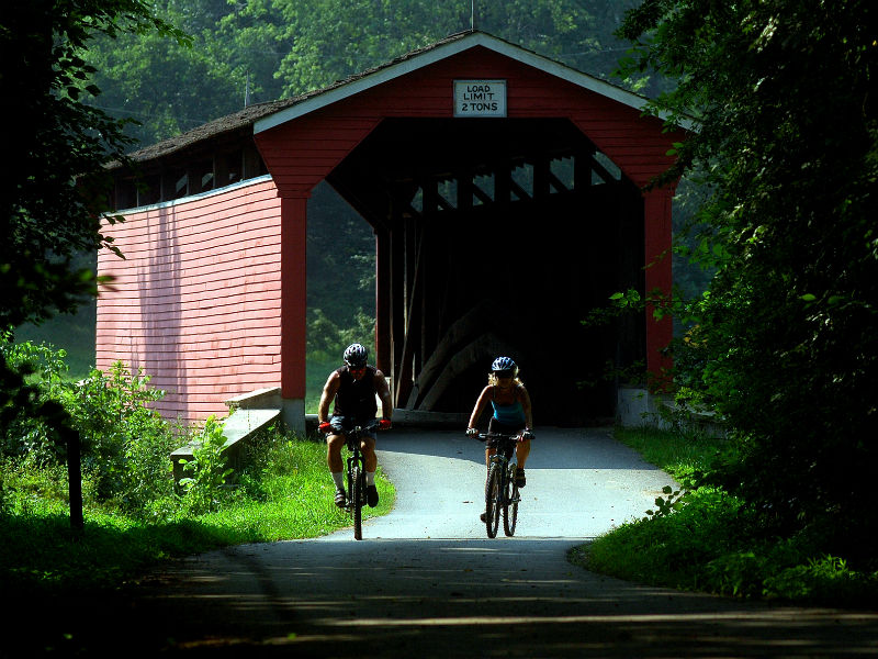Cyclists in Fair Hill Natural Resource Management Area. Photo by Maryland Department of Natural Resources.