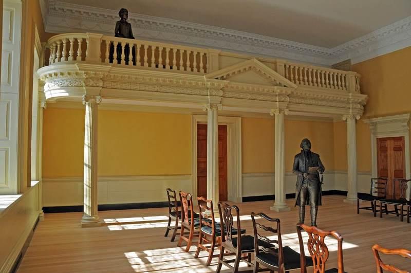 Maryland Old Senate Chamber, ca. 2016. Courtesy Maryland Historical Trust.