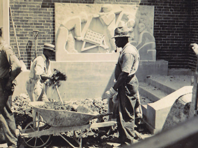 African American builders, Greenbelt, MD, 1937. Photo from the Greenbelt Museum.