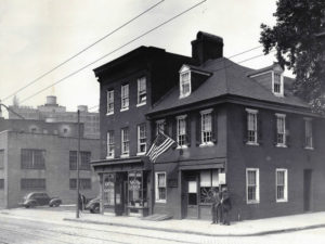 The Flag House in 1945. Photo from The Star-Spangled Banner Flag House.