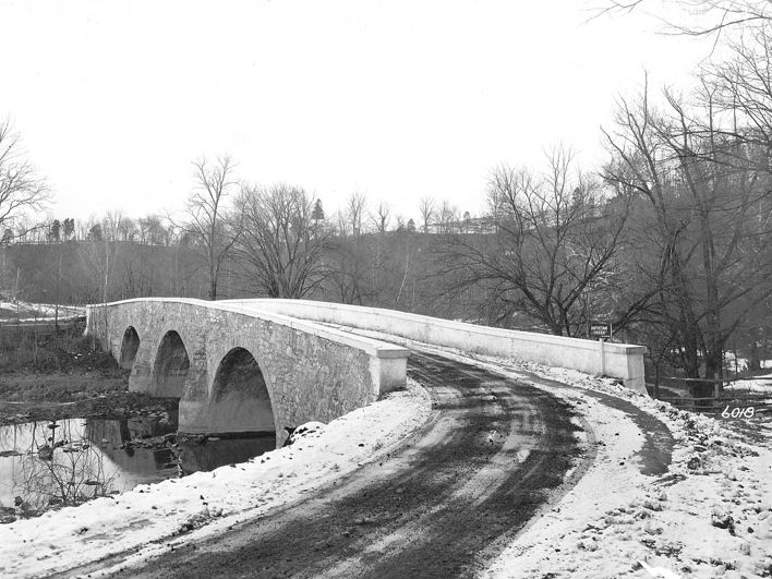 Booth's Mill Bridge in Washington County, 1938. Photo from the Maryland Department of Transportation.