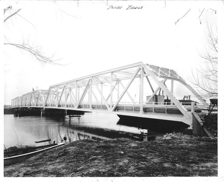 The Dover/Choptank Bridge, 1934. Photo from the Maryland Department of Transportation.