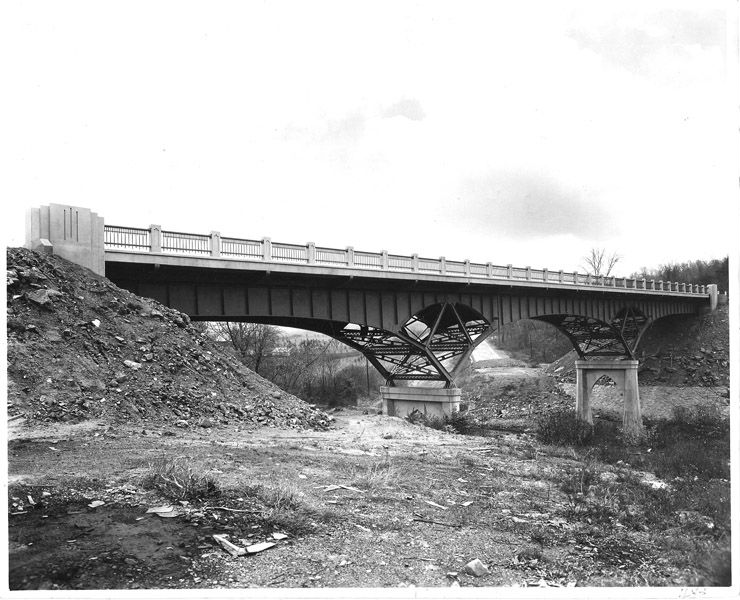 Licking Creek Bridge, 1938. Photo from the Maryland Department of Transportation.