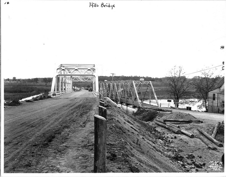 Photo of the Patexent River bridge during construction, 1932. Photo from the Maryland Department of Transportation.