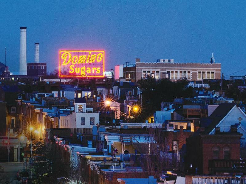 Domino Sugar and Triangle Sign & Service The Baltimore Domino Sugars Neon Sign