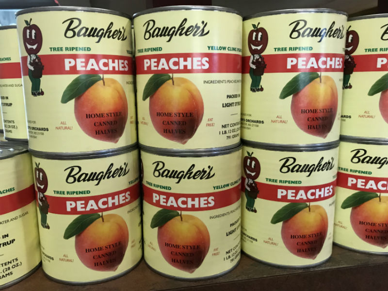 Image showing canned peaches from Baugher's Farms