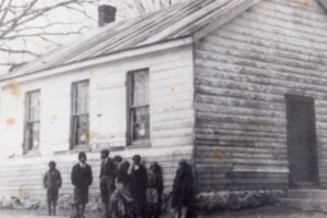 Undated historic photo of the Pleasant View School.