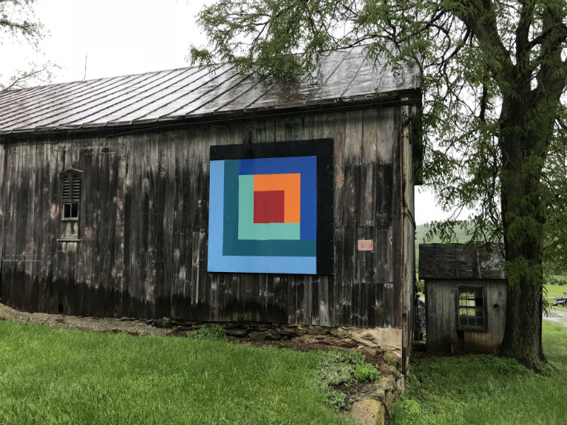 Part of the Quilt Trail in Carroll County, 2018.