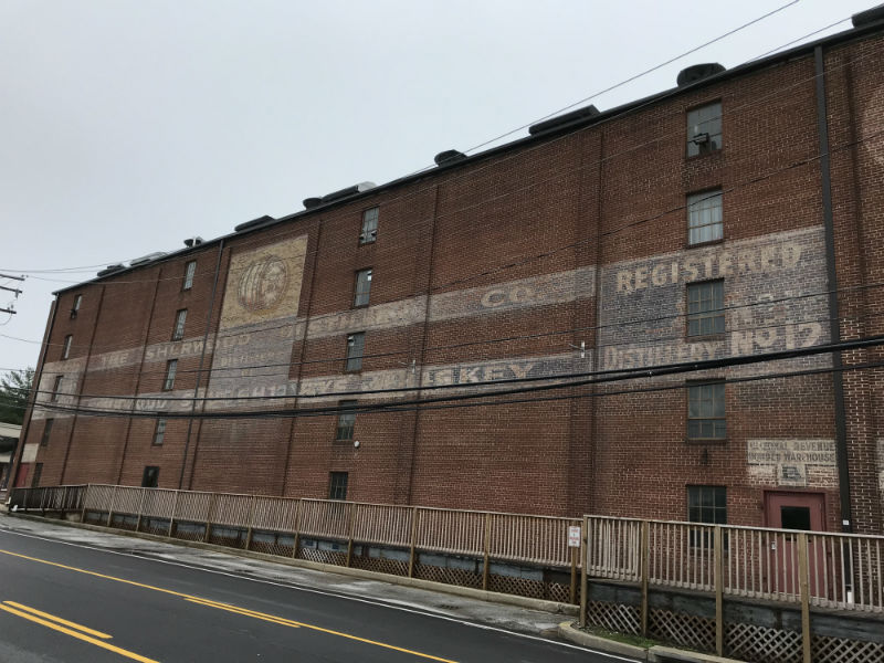 Sherwood Rye Whiskey ghost sign in Carroll County, 2018.