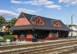 Historic Brunswick, Maryland B&O Railroad station, ca. 1891.