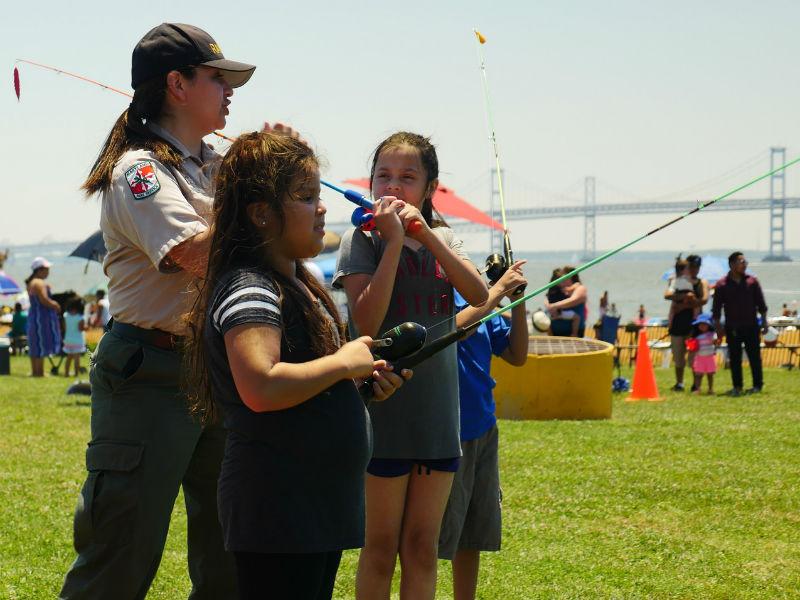 Es Mi Parque event at Sandy Point State Park, 2017.