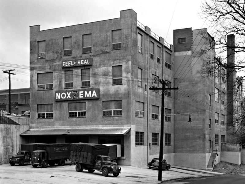 Noxzema building, ca. 1951. Photo from Baltimore Museum of Industry.