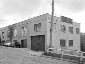 Noxzema building in Baltimore City, 1938. Photo from Baltimore Museum of Industry.