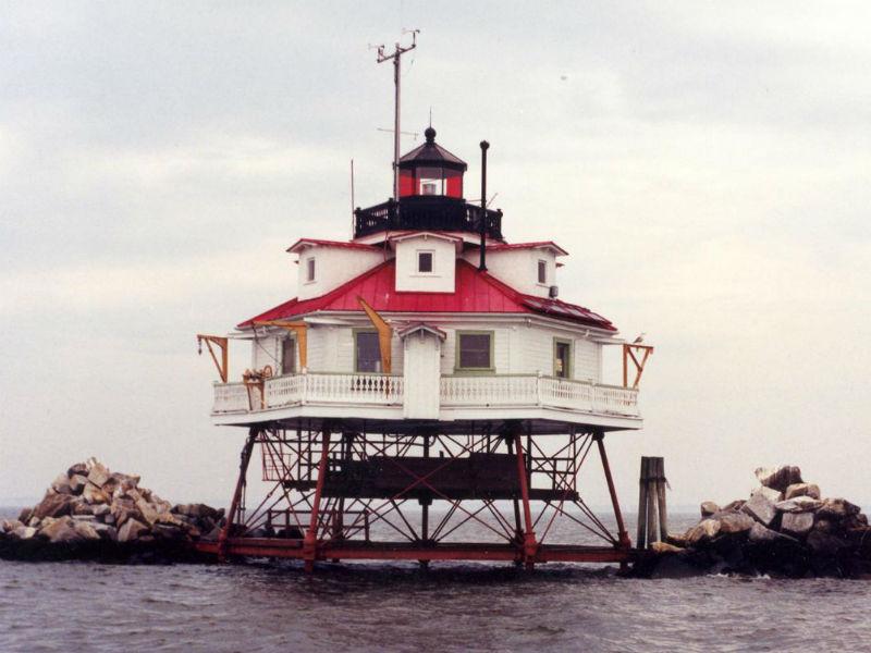 Thomas Point Shoal Lighthouse. Photo from US Lighthouse Society.