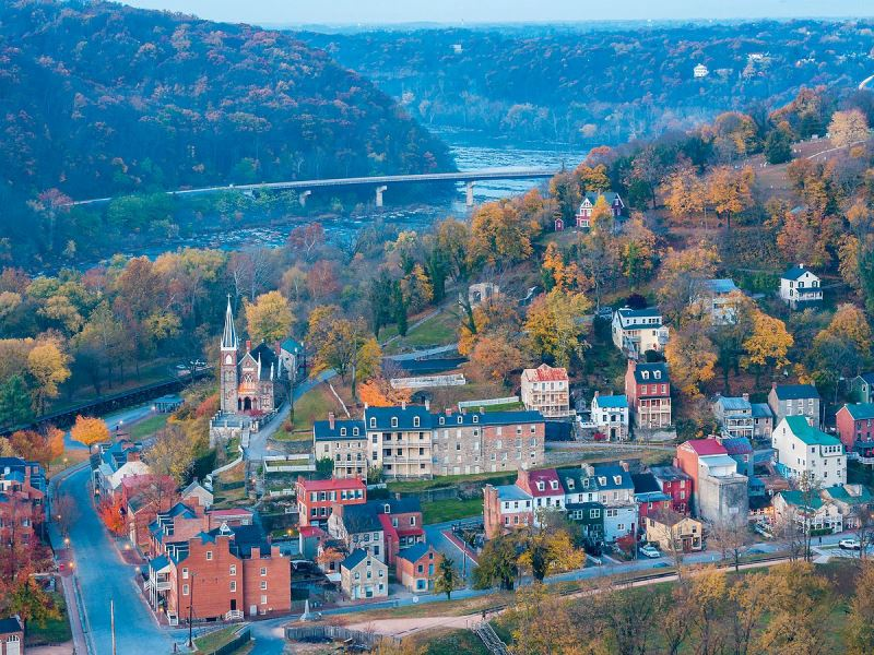Historic Harpers Ferry, WV is a case study identified in the special report. Photo from Wikimedia.