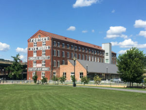 Historic Footer Dye Works building, historic tax credit project in Cumberland, MD.