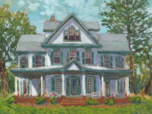 Watercolor of Wilderness Farm, 2018. Image from Historic Ellicott City, Inc.