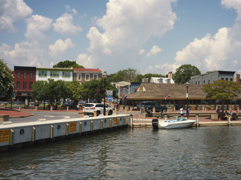 City Dock in the Annapolis National Landmark District, 2017.