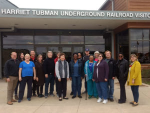 Tour group at the Harriet Tubman Visitor Center, 2018.
