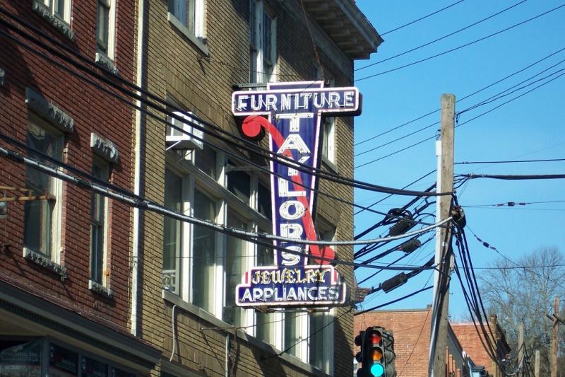 Historic signage in Ellicott City. Flickr user Jim Grey.