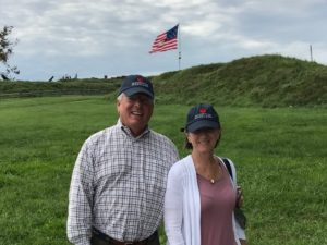 Diane and Jeff Caslow at Fort McHenry, 2018.