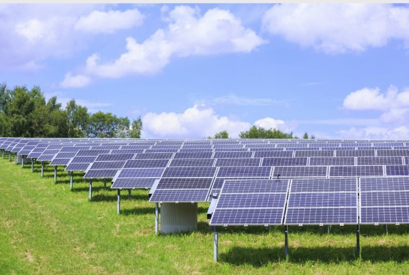 Field of solar panels. Courtesy, Baltimore Sun.
