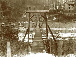 Historic image of Swinging Bridge.