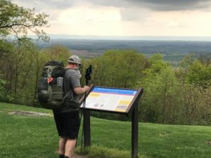Hiker near Pen Mar Park, MD. Photo from Civil War Trails.
