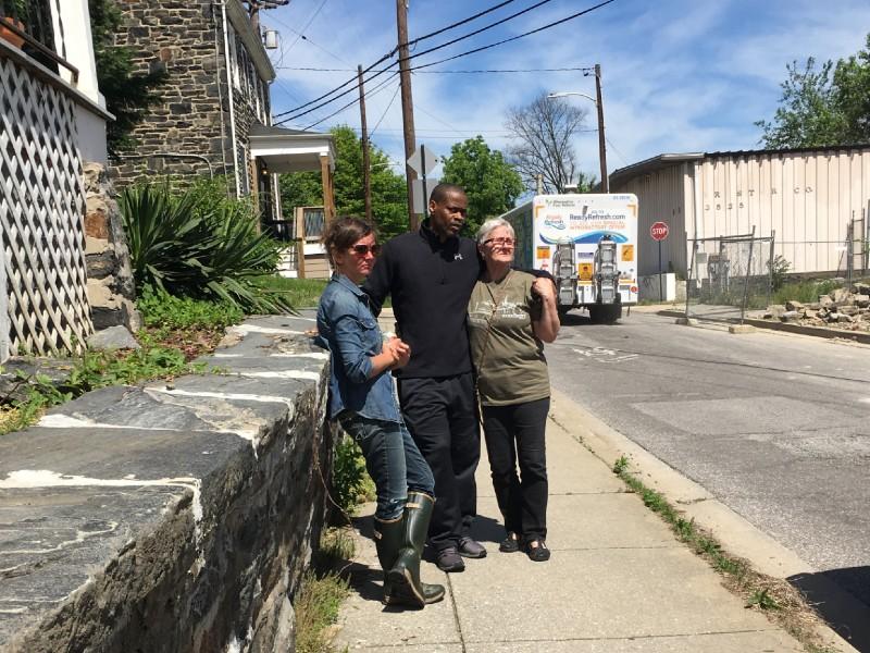 Baltimore City Councilman Leon F. Pinkett III and Woodberry neighbors, 2019.