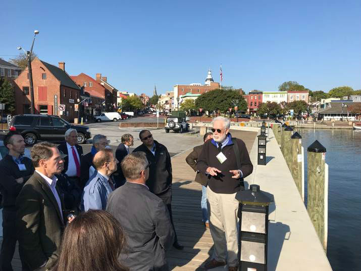 Urban Land Institute panel touring Annapolis, October 2019.