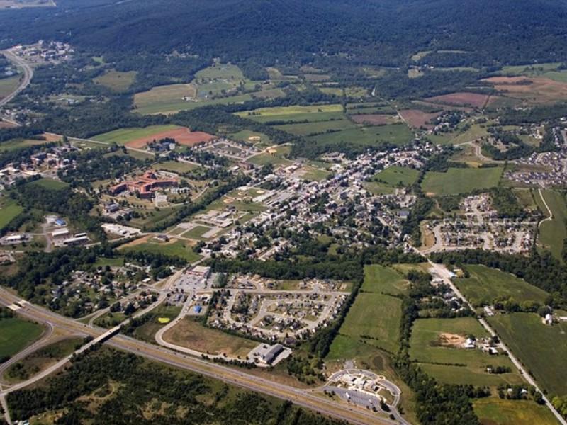 Aerial Photo of Emmitsburg, MD.