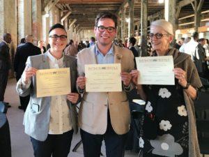 Meagan Baco, Nathan Dennies, Paula Bogert, 2019.
