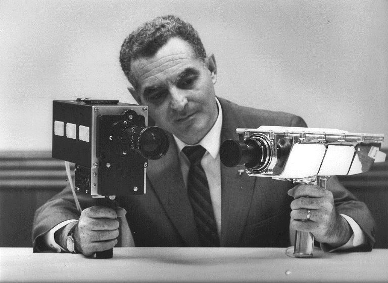 Stan Lebar, Maryland-based Westinghouse engineer who led the team which developed the Apollo moon cameras.