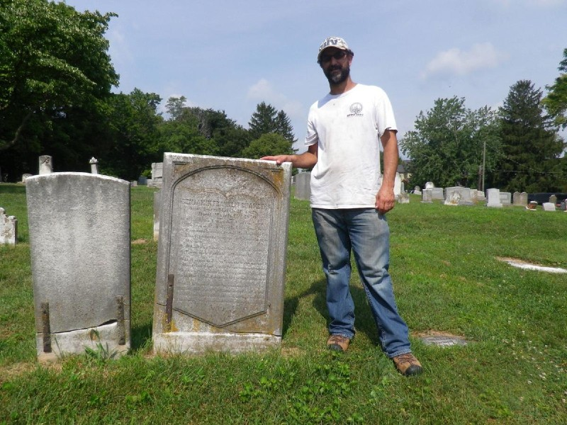 Moss Rudely at Harper Cemetery, WV. Photo by Frederick News-Post.