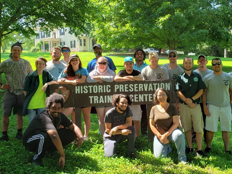 Cohort of Apprentices at the Historic Preservation Training Center, 2019.