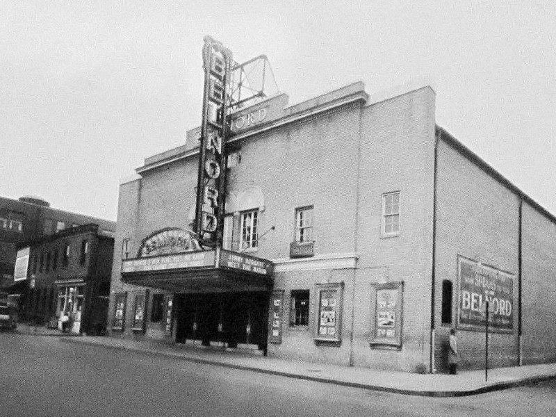 Historic image of the Belnord Theatre, ca. 1930s.