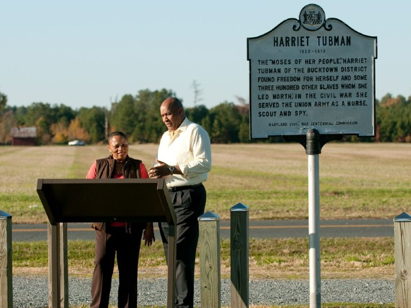 Harriet Tubman historic marker in Dorchester County. Photo from Dorchester County Tourism.
