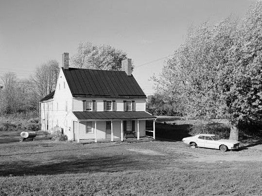 Vintage image of the Newcomer House, no date. Photo from Library of Congress.