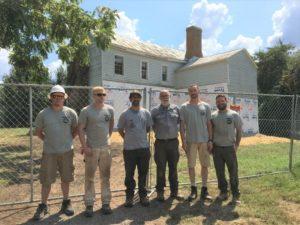 Tauck Tours-sponsored veterans cohort at the Dogan House, Manassas, VA, 2019.
