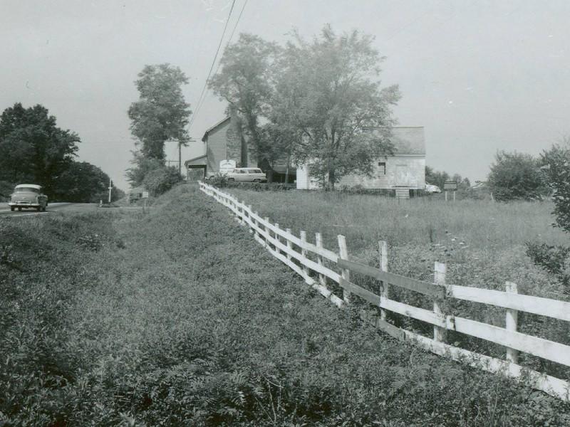 The Dogan Houses, Manassas Battlefield, ca. 1960. Photo from Manassas Battlefield National Park.