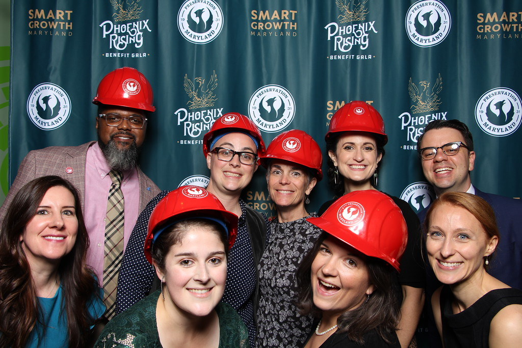 Preservation Maryland staff at our Phoenix Rising gala, October 2019.