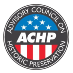 "ACHP Logo; ""Advisory Council on Historic Preservation"""