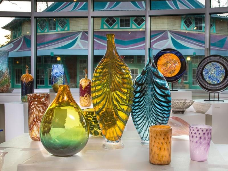 Glass Blown Vases at Glen Echo Park