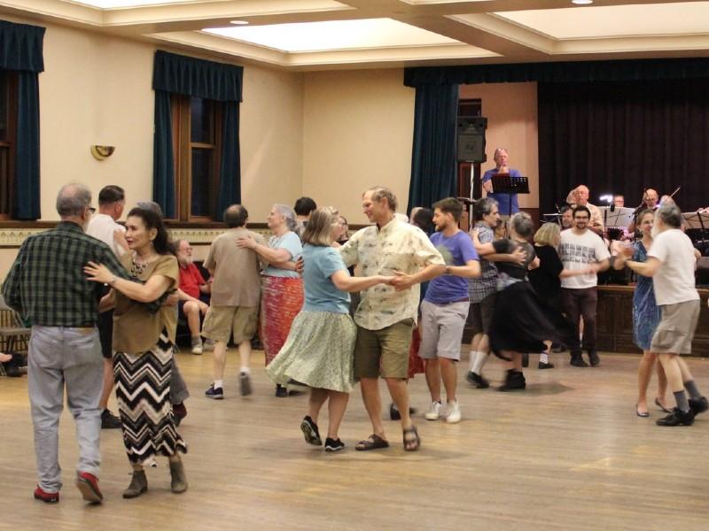 People dance at Lovely Lane Arts & Neighborhood Center