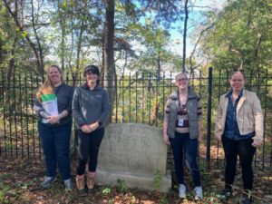 Preservation Maryland and partners in Anne Arundel cemetery, 2019.
