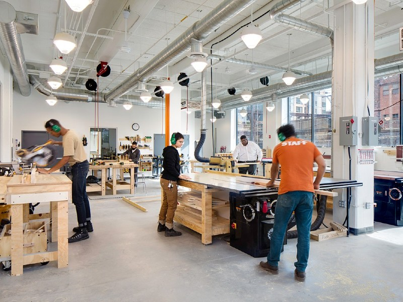 Image inside of Open Works, a Baltimore is a non-profit dedicated to making tools, technology, and the knowledge to use them accessible to all