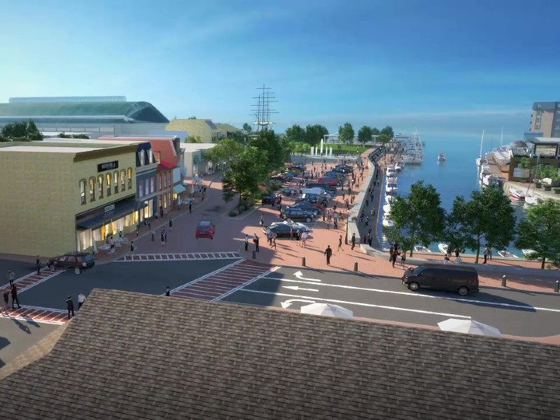 Screenshot of City Dock reimagined animation. Courtesy of Historic Annapolis, Inc.