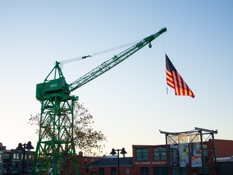 Restored WWII crane supported by our Six-to-Fix program.