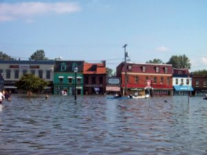 Flooding in downtown Annapolis, 2003. Photo from Climate Change Maryland.